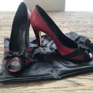 Marc Jacobs red bow heels